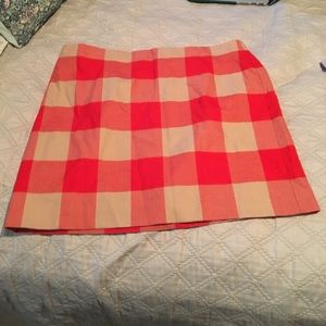 J. CREW Gingham Mini Skirt Size 12